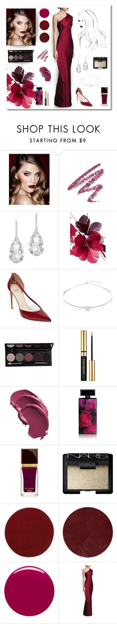 """""""Red Carpet look"""" by magnolialily-prints ❤ liked on Polyvore featuring Charlotte Tilbury, Plukka, Valentino, Francesco Russo, Jack Vartanian, Elizabeth Arden, Tom Ford, NARS Cosmetics, Burberry and Nails Inc."""