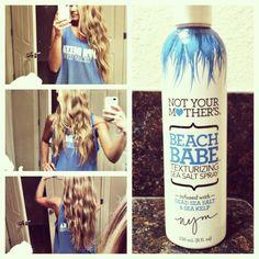 Beach hair by Not Your Mother's Beach Babe Texturizing Sea Salt Spray