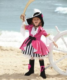 pink pirate girl costume - Only at Chasing Fireflies - We all know of Bluebeard. Now meet Pink Pirate -- fearless, sea-savvy, a true legend in Caribbean waters.