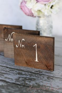 Rustic Table Numbers Barn Wood