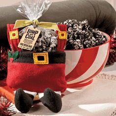 CHRISTMAS COAL POPCORN   -   2 Bags Microwave Popcorn, Popped  1 (6 oz.) Box Candy Canes, Crushed  1 Pack Oreo® Cookies, Crushed  1 1/2 pack Almond Bark  1 1/2 tsp. Peppermint Extract or a Few Drops of Peppermint Oil