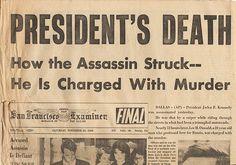 President John F Kennedy JFK Assassination Newspaper Nov. 23, 1963 - 1