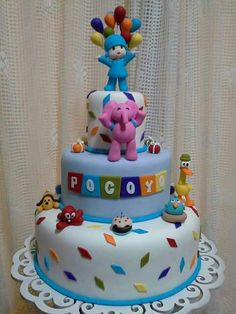Pocoyo Cars Birthday Parties, Birthday Cakes, Birthday Ideas, Cupcakes Decorados, Boy First Birthday, Baby Shower Cakes, Party Cakes, First Birthdays, Party Ideas