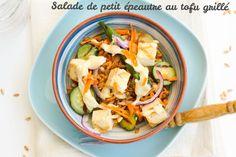Salade de petit épeautre aux légumes & au tofu grillé