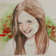 #girl #face #aquarellepainting