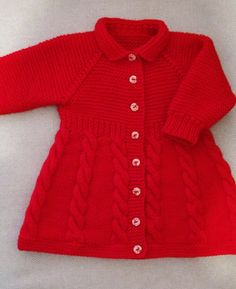 Baby Dress Patterns, Baby Knitting Patterns, Knit Baby Dress, Diy And Crafts, Creations, Model, Sweaters, Dresses, Fashion