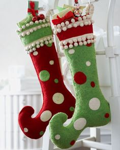 """Jester"" Christmas Stocking - Horchow I have a pattern like this, but just haven't ever sat down and done them :/"