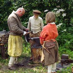 Blacksmith skills http://rosiepblog.blogspot.co.uk/2014/06/more-tudor-times.html