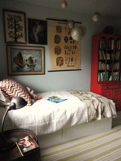 Love this vintage style for Jonah's room. Pure Style Home: Progress in My Boys' Bedroom