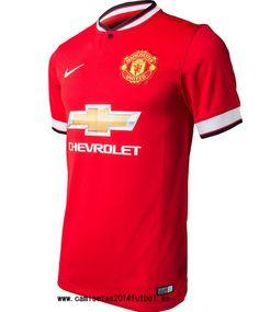 Nueva Camiseta del Manchester United Primera 2014-2015 Camisetas Nike b753549fbef9b