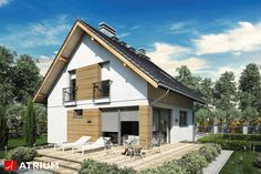 Projekt Konkret III - elewacja domu