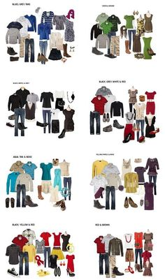 What to Wear for Family Pictures This was so helpful! What to Wear for Family Pictures - so you look good together! Family Picture Colors, Fall Family Pictures, Fall Photos, Family Photos What To Wear, Outfits For Family Pictures, Family Picture Clothes, Fall Family Picture Outfits, Family Photo Clothing, Ideas For Family Photos