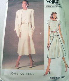 1980s John Anthony Draped Swing jacket skirt by retroactivefuture