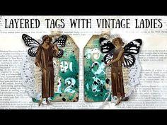 Tags with Vintage Ladies Tutorial 🦋 Shanouki Art 🦋 - YouTube Digital Collage, Digital Prints, All Video, Junk Journal, Vintage Ladies, Tags, Ephemera, Blackberry, Bookmarks