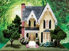Hand crafted smaller quarter scale miniature dollhouses, dollhouse kits and dollhouse furniture Cubby Houses, Fairy Houses, Doll Houses, Diy Dollhouse, Dollhouse Furniture, Dollhouse Miniatures, English Country Style, Glitter Houses, Miniature Houses