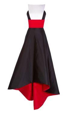 Shop Taroni Silk Full Skirt Gown With Banded Waist by Prabal Gurung for Preorder on Moda Operandi #LOVE@1stSight!