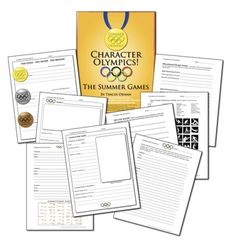"""Summer Olympics Literature or Historical Figure Lesson Activity - """"The Character Olympics"""" Summer-style! This is the summer version of my Character Olympics for the Winter Games; I added some new, fun activities to incorporate the excitement of the Games into your curriculum. $"""