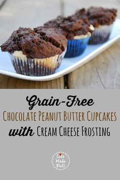 GF Chocolate Peanut Butter Cupcakes
