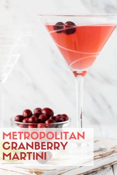 Move over cosmo, there's a new drink in town! This Metropolitan Cranberry Martin… Move over cosmo, there's a new drink in town! This Metropolitan Cranberry Martini is so smooth and balanced you will instantly fall in love. Batch Cocktail Recipe, Best Cocktail Recipes, Martini Recipes, Drink Recipes, Bar Recipes, Lemon Recipes, Vodka Cocktails, Cocktail Drinks, Juicing