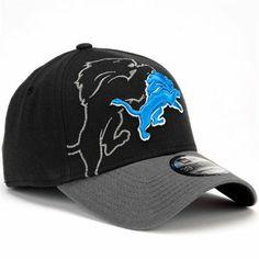 New Era Detroit Lions 39Thirty Classic Flex Hat - Black