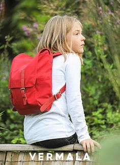 Red Mountain by VERMALA - children's backpack with attitude - www.vemala-bag.com Hiking Backpack, Gym Bag, Attitude, Mountain, Backpacks, Children, Colors, Red, Bags