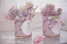 Vintage Millinery in Shabby Chic Couture vintage wallpaper boxes