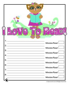 Printable Reading Logs Cute Printable Reading Log – Classroom Jr.