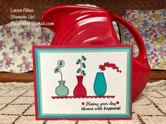 """I am beginning to love the """"Varied Vases"""" stamp set and the """"Vases Punch Builder"""" from Stampin Up!"""