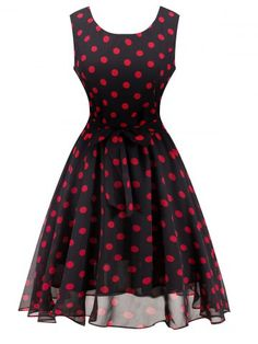 GET $50 NOW | Join RoseGal: Get YOUR $50 NOW!http://m.rosegal.com/vintage-dresses/retro-belted-high-waisted-polka-707120.html?seid=7714777rg707120