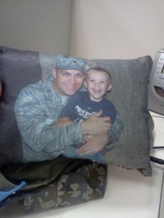 Deployment Photo Pillow by carlyshomefront on Etsy, $12.00