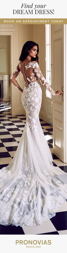 Could Rocio dress be the perfect choice for you to float down the aisle? Try it on at your nearest store!