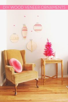 Giant Wood Veneer Christmas Ornament Decorations » Curbly   DIY Design Community-- I'd rather see this in something more substantial like plywood but a cute idea!