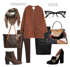 From work to weekend by stefania-fornoni on Polyvore featuring polyvore, fashion, style, MANGO, Zara, Gucci, H&M, Fendi, Louis Vuitton and Burberry