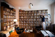 Claas Brieler's record room.
