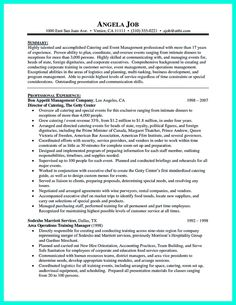 nice attractive but simple catering manager resume tricks check more at http