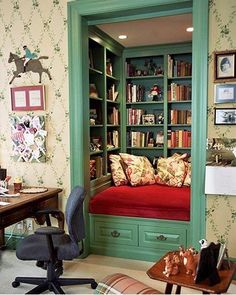 closet turned library..if I only had this it would be my secret place...im a book worm/love books/secret places to hide/this would be perfect!