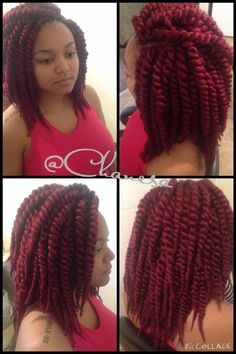 "Havana Mambo Twist 12"" were used for this crochet braid style.  8 bags were used to achieve fullness.  Style completed in less than 2 hours. Stylist: Chanesa Hart"