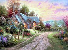 Thomas Kinkade Paintings Romantic | Thomas Kinkade