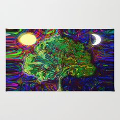 Night and Day Area & Throw Rug by Amelia  Carrie - $28.00