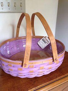 Lavender Longaberger Basket