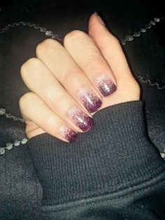 My black and hot pink glitter gel nails. :)