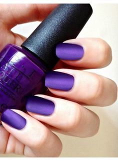 Amethyst Suede Matte Manicure ~ OPI I Carol About You, Matte TC Set Nail Polish