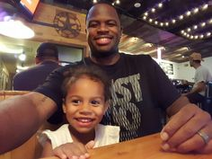 Playa Rabbit with family at Twisted Root Burgers in Roanoke Texas