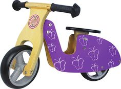 Mini Balance Bike (from - Butterfly. These stylish wooden bikes are designed with young children in mind. Suitable from 18 months, the bike is smaller than an average balance bike meaning short legs won't hold back a budding balance biker. Toys For Tots, Kids Toys, Traditional Toys, Wooden Baby Toys, Balance Bike, Outdoor Toys, Tricycle, Decoration, Gifts For Kids