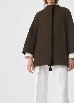 Cappotto lana destrutturato | MANGO