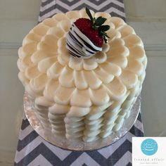 A Frosted Affair favorite! Our strawberries and creme cake with vanilla buttercream!