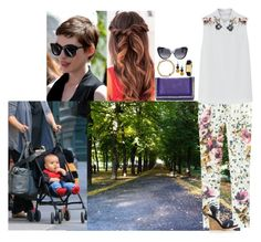 """Taking a sunny walk with Lena and Milo"" by swedish-princess ❤ liked on Polyvore featuring Matthew Williamson, By Malene Birger, Miu Miu, Alexander McQueen, Kate Spade, women's clothing, women's fashion, women, female and woman"