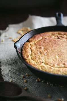 Skillet Amaranth Cornbread (gluten free recipe) | Simple Bites #baking #gf #realfood This world is really awesome. The woman who make our chocolate think you're awesome, too. Please consider ordering some Peruvian Chocolate! http://www.amazon.com/gp/product/B00725K254