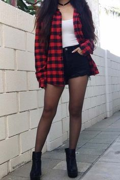 trendy how to wear flannel outfits shirts - # Casual Outfits grunge flannels trendy how to wear flannel outfits shirts Cute Flannel Outfits, Trendy Fall Outfits, Cute Casual Outfits, Summer Outfits, Simple Outfits, Cute Grunge Outfits, Hipster Outfits For Teens, Flannel Shirt Outfit, Flannel Fashion