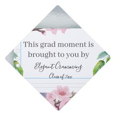 Shop Funny Cute Watercolor Floral Notebook Paper Graduation Cap Topper created by Ms_Jade. Funny Graduation Caps, Graduation Cap Toppers, Graduation Cap Decoration, Graduation Day, Graduation Pictures, Graduation Balloons, Cap Decorations, Notebook Paper, Graduation Invitations